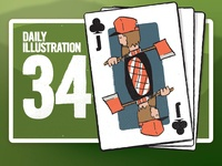 Daily Illustration 34 - Lumberjack of Clubs