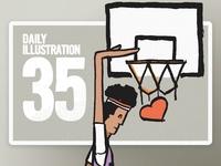 Daily Illustration 35 - B-Ball