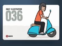Daily Illustration 36 - Scootin