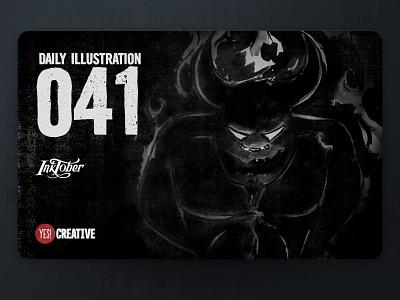Daily Illustration 41 - Inktober Roasted roasted process inktober2018 inktober ink illustrator illustration happy handdrawn habit digitalpainting dailychallenge creative brushpen artwork artdaily