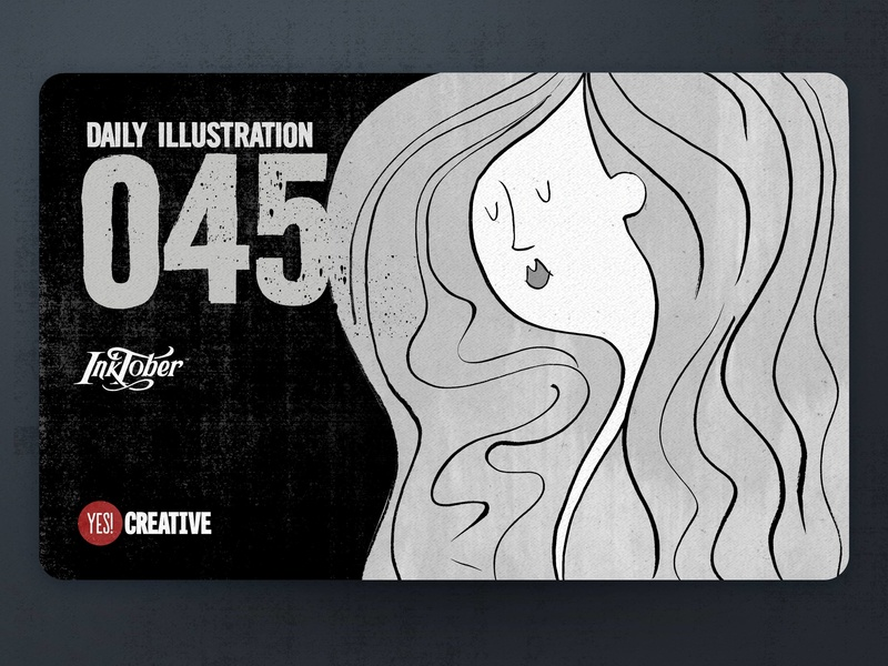 Daily Illustration 45 - Inktober Flowing