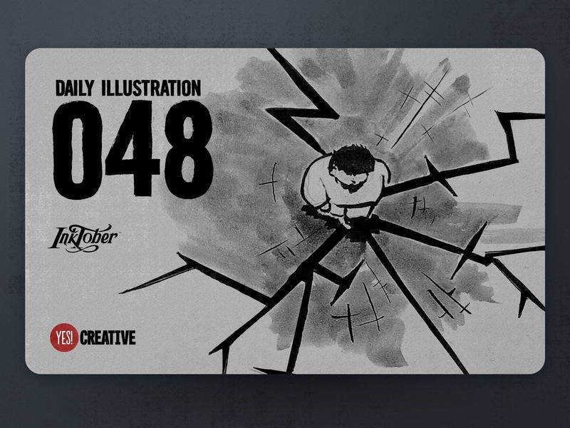 Daily Illustration 49 - Inktober Weak