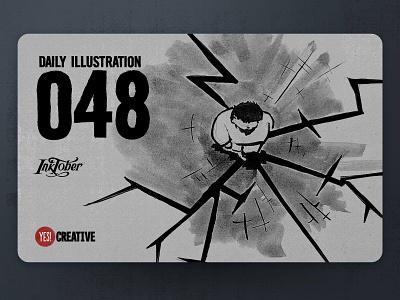 Daily Illustration 49 - Inktober Weak weak process inktober2018 inktober ink illustrator illustration happy handdrawn habit digitalpainting dailychallenge creative brushpen artwork artdaily