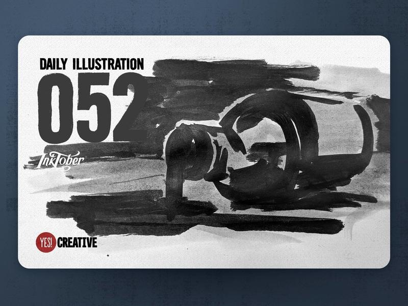 Daily Illustration 52 - Inktober No.18 Bottle.