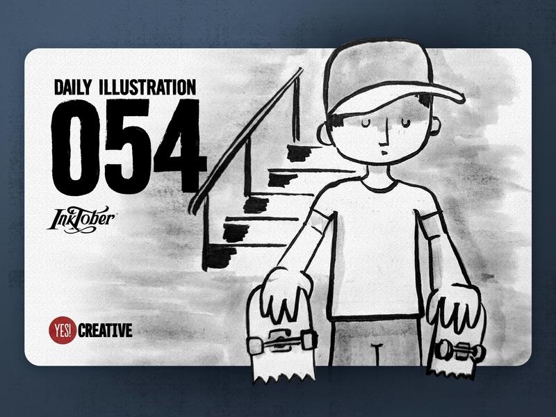 Daily Illustration 54 - Inktober No.20 Breakable.
