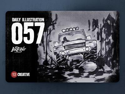Daily Illustration 57 - Inktober No.23 Muddy. muddy process inktober2018 inktober ink illustrator illustration happy handdrawn habit digitalpainting dailychallenge creative brushpen artwork artdaily