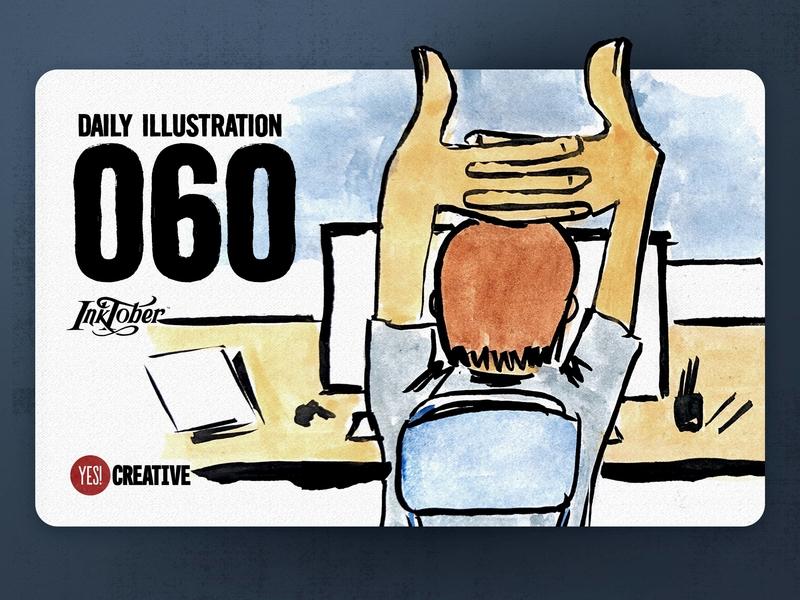 Daily Illustration 60 - Inktober No.26 Stretch.
