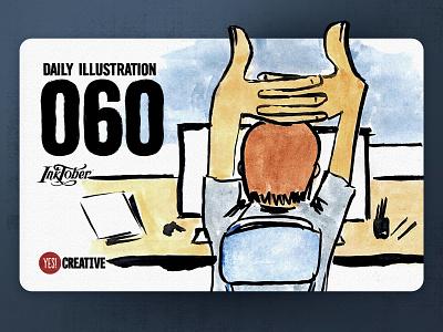 Daily Illustration 60 - Inktober No.26 Stretch. stretch process inktober2018 inktober ink illustrator illustration happy handdrawn habit digitalpainting dailychallenge creative brushpen artwork artdaily