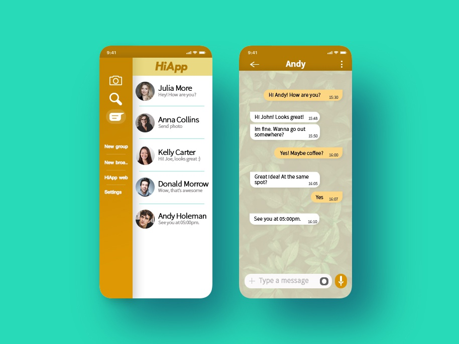013 Ui Design Direct Messaging ux minimal app web ui design