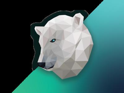 Poly Art Polar Bear