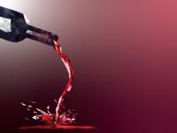 Wine Bottle - PolyArt