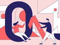 Illustration for the article minimal design illustrator website web art vector illustration