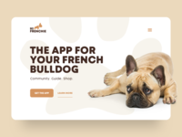 The App For Your French Bulldog guide shop community bulldog frenchie landingpage app