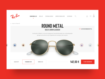 Ray-Ban Product Page