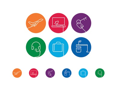 Travel Icons iconography vector