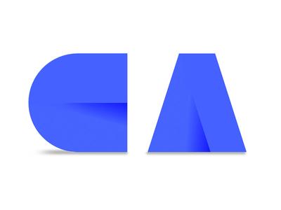 CA vector typography