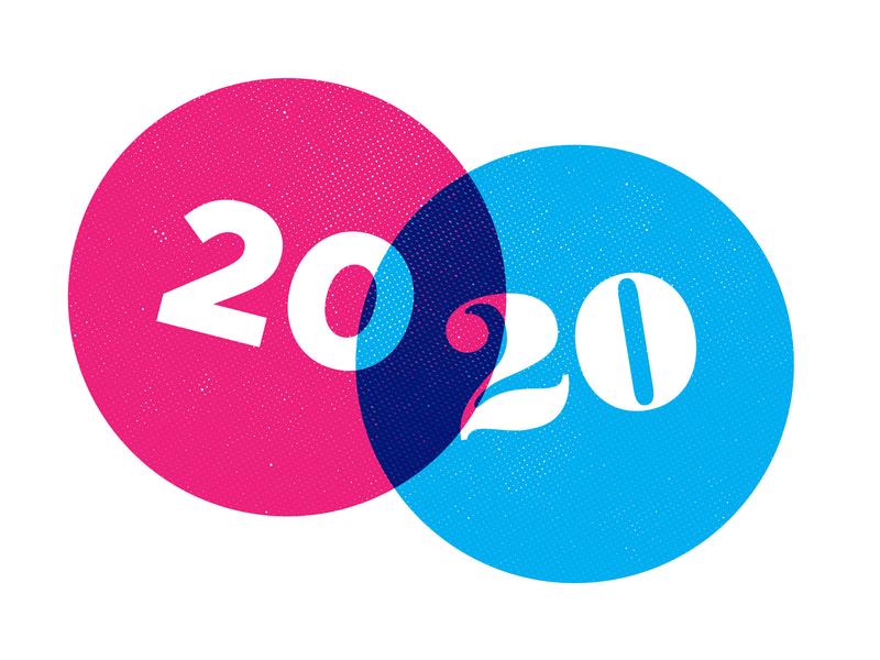 2020 vector illustration typography