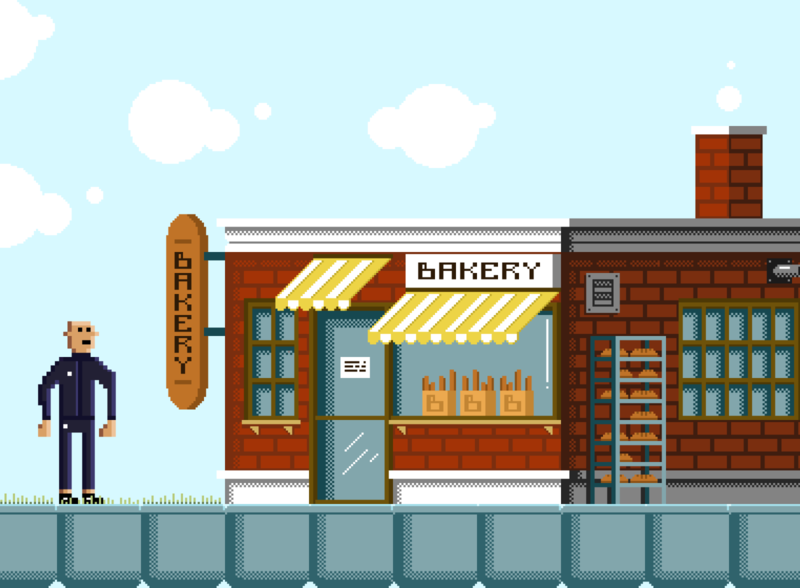 Homie The Game - Bakery pixelartist aseprite gamedev indiedev pixelart pixels