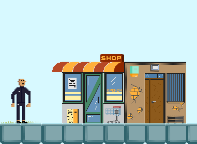 Homie The Game - Shop gamedesign design pixelartist digitalart pixels indiedev illustration aseprite pixelart