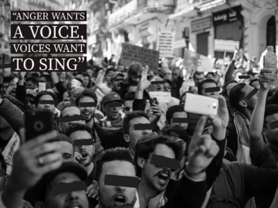 """""""Anger wants a voice, voices want to sing"""""""