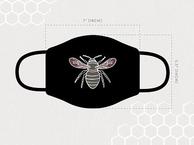 Mask Design Idea mask design face mask corona virus coronavirus covid 19 covid-19 healthcare mask drawing adobe illustrator vector illustrator design illustration bee hive bee