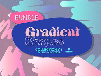 Bundle Gradient & Holographic Shapes v.1 - Clip Art Design svg bundle vector design illustration font bundle design bundles gradient icon bundle holo design holographic gradient color graphic bundle gradient shapes