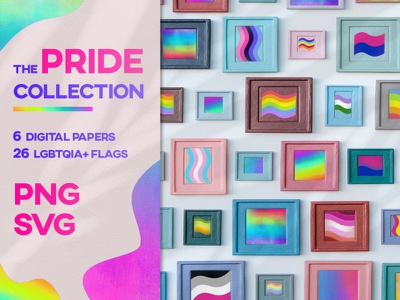 The Pride Collection - Digital Papers & Flags pride 2019 asexual lgbt lgbtqia lgbtq icon design icon set flag logo flag design digital papers svg icons lesbian svg transgender transparent background gay pride gay rights pride month pride flag pride 2020 adobe illustrator