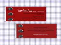 Theater Play Invitations