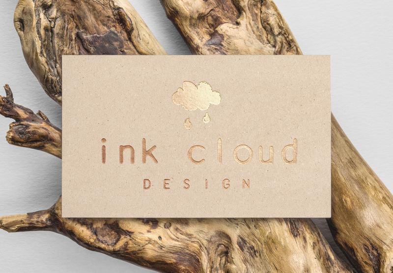 Ink Cloud Design Logo business card design businesscard icon branding vector illustration design logo