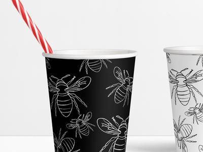 Bee Illustration Cup Design