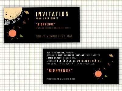 Theater Play Invitations (2018)