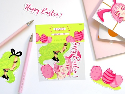 Easter Stickers Set