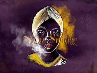 Nina Simone illustrator graphic designer adobe photoshop adobe draw drawing art artist cigarettes smoking musician art procreate illustration nina simone