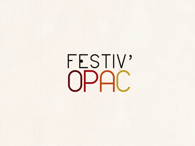 Festiv'OPAC Logo Idea adobe illustrator design typography logotype logo proposition logo idea illustrator