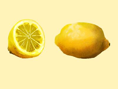 Citrus artist lemonade live art painting procreate design illustrator illustration lemon lemon citrus