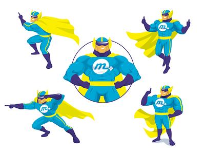 Monetrack mascot branding illustration