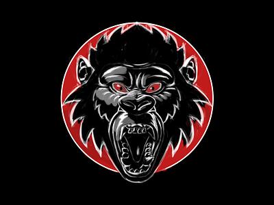 Gorilla Head Tshirt tshirt head illustration gorilla