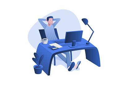 Home office branding illustration