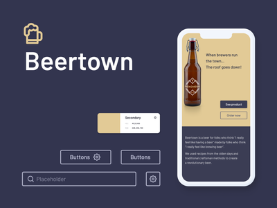 Beertown - design system & e-commerce town beer userflow prototype desktop mobile ui ux responsive shop e-commerce design system