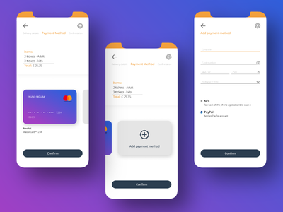 Credit Card Checkout - Daily UI #002 payment payment app mobile design mobile app mobile ui dailyuichallenge dailyui 002 uidesign ui daily ui card application app design creditcard checkout 002 dailyui