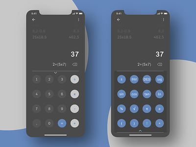 Calculator - Daily UI #004 blue black dark dark mode mathematics design calculator app calculator ui calculator application app design 004 ui daily ui dailyui