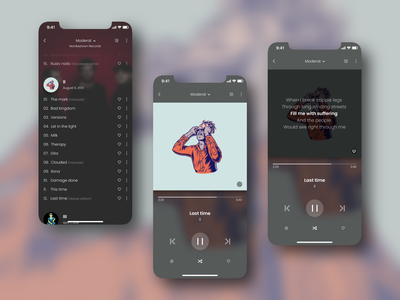 Music Player - Daily UI #009 moderat album artist music music app mobile ui mobile app white black application design app design ui daily ui dailyui 009