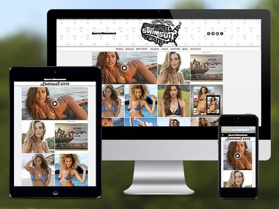 SI Swim is LIVE! editorial typography sports sports illustrated swim swimsuit made in the usa