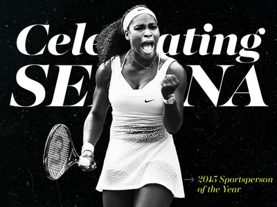 Sports Illustrated Celebrating Serena