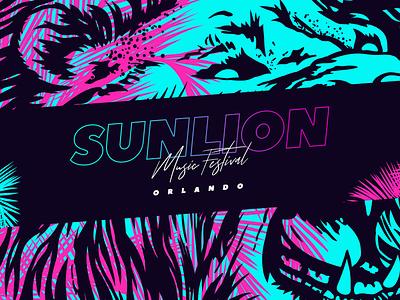 SunLion Music Festival RFP Art Concept orlando florida branding concept music festival festival design