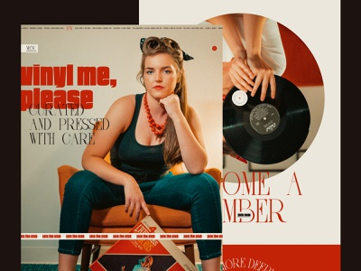 Vinyl Me, Please (Website Exploration) typography branding ui design web design