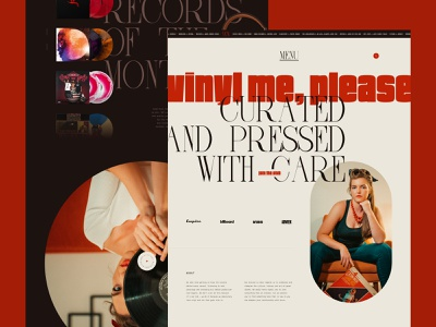 Vinyl Me, Please (Website Exploration) typography branding ui design web design