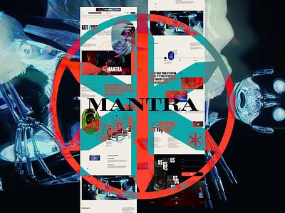 MANTRA - Mocktober color ui design typography mocktober2021 website web design mocktober