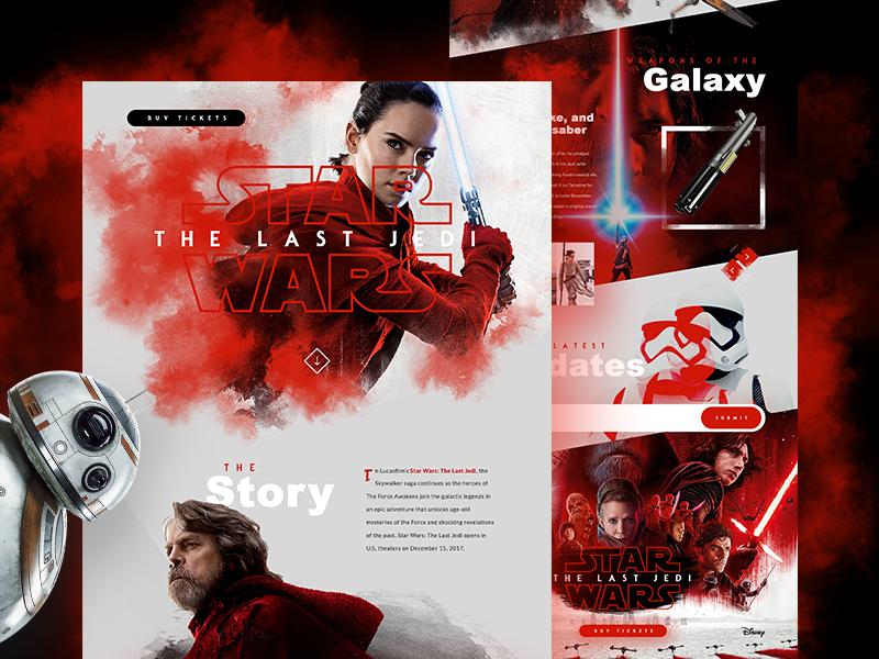 Star Wars The Last Jedi Website web design the last jedi star wars