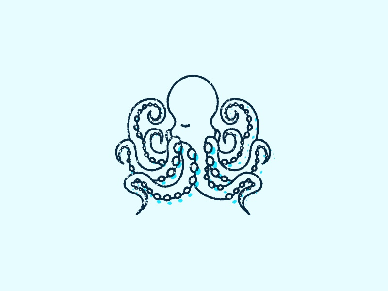 The One Eyed Octopus illustration octopus